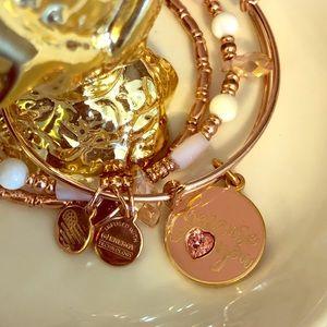 "Alex and Ani ""because I love you"" bracelet set."